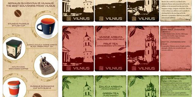 Plakatas ir arbatos etiketės