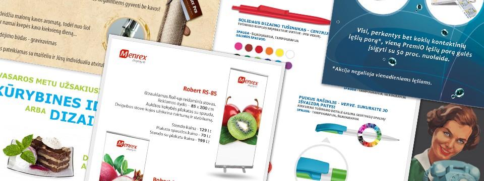 Reklaminių skydelių ir web dizainas